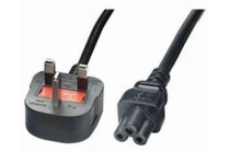 Mains Power Cable 3 Pin Mains to C5 (Mickey Mouse) Clover leaf