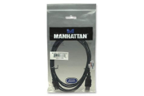 MH USB 2.0 Cable, A-A Ext., 1.8 m, black, Polybag