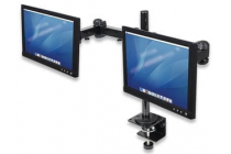 LCD Dual Monitor Mount with Double-Link Swing Arms. Premium Quality, Rock solid.