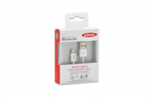 Ednet Apple CERTIFIED iP5 cable, Apple 8pin – USB A, 0.5m 15 YEAR WARRANTY