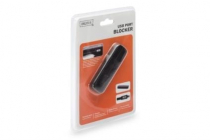 Digitus USB Port Blocker for 4 USB ports, Black
