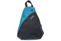 MH Dashpack Tablet Slingbag, Black & Blue, Fits 12in.