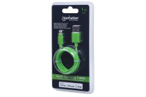 MH CERTIFIED Lightning plug to USB A plug Green 1m