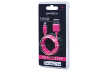 MH CERTIFIED Lightning plug to USB A plug Pink 1m