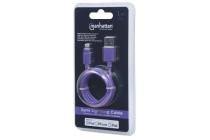 MH CERTIFIED Lightning plug to USB A plug Purple 1m