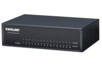 16-Port Fast Ethernet Switch Desktop, Metal