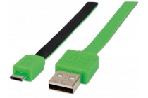 Flat Micro-USB Cable 1 m (3 ft.) Black/Green