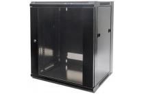 19″ Wallmount Cabinet  12U, 635 (h) x 570 (w) x 450 (d) mm, Flatpack, Black