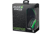 Sound Science Cosmos Comfort-Fit Wireless Headphones Green