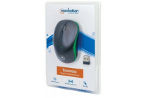 MH Mouse, Success, Optical, Wireless 2.4G, USB, 1000 dpi, Black/Green, Blister