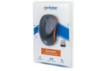 MH Mouse, Success, Optical, Wireless 2.4G, USB, 1000 dpi, Black/Orange, Blister