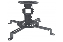 Universal Ceiling Projector Mount Black (up to 13.5kg)