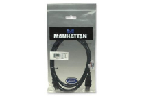 1.8m USB 2.0 Cable, A-A Ext., 1.8 m, black, Polybag