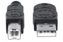 MH Cable Hi Speed USB 2.0  A Male/B Male 3 m black blister