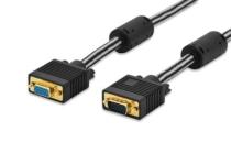1.8m Ednet VGA Premium Monitor Connection Cable Cotton Braided