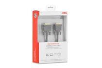 DVI Premium cable, DVI(24+1), 2x ferrit, M/M, 2.0m, DVI-D dual link, UL, bl, cotton , gold