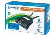MH Mini 2 port KVM Switch, USB with Cables and Audio Support SRP €79.99