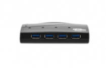 USB 3.0 Hub, 4-port, buspowered, black