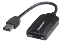 Super-Speed USB, External Card Reader & Writer, 24-in-1, Black