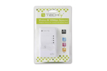 Techly 300n Wireless Repeater with WPS (UK Plug)
