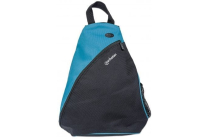MH Dashpack Tablet Slingbag, Black & Blue, Fits 12in.