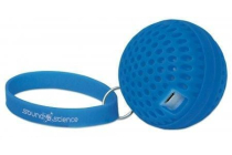 Sound Science Atom Glowing Wireless Mini-Speaker with Bluetooth Technology and Rhythmic LED Lighting Effects, Blue