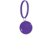 Sound Science Atom Glowing Wireless Mini-Speaker with Bluetooth Technology and Rhythmic LED Lighting Effects, Purple