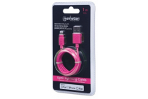 Apple CERTIFIED Lightning plug to USB A plug Pink 1m
