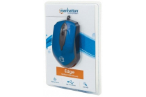 Edge Optical USB Mouse  Wired, Three Buttons with Scroll Wheel, 1000 dpi, Blue