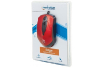 Edge Optical USB Mouse  Wired, Three Buttons with Scroll Wheel, 1000 dpi, Red