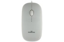 Optical Silhouette Scroll Mouse, White, 1000dpi USB
