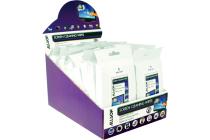 Allsop Screen Cleaning Wipes Merchandiser –  mini packet x 20 packets