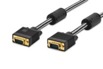 1.8m Ednet VGA Premium Monitor Connection Cable M-M Cotton Braided
