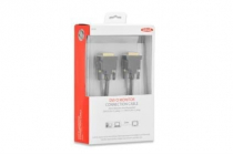 2m DVI Premium cable, DVI(24+1), 2x ferrit, M/M, 2.0m, DVI-D dual link, UL, bl, cotton , gold