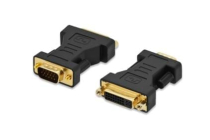 DVI-I to VGA Adapter, DVI(24+5)F – VGA M dual link gold
