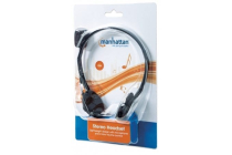 Stereo Headset /Mic. Lightweight design with microphone and in-line volume control