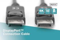2 m Displayport Cable M/M w/interlock Ultra HD 4K