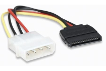 SATA Power Cable 4 Pin to 15 Pin, 16 cm (6.3 in.)