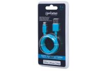 Apple CERTIFIED Lightning plug to USB A plug Blue 1m