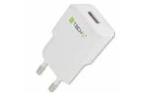 Techly 2.1A USB Travel Charger White