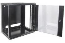 19″ Wallmount Cabinet 6U, Flatpack, Black