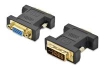 DVI- to VGA adapter, DVI(24+5)M – VGA F DVI-I dual link gold