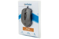 Edge Optical USB Mouse  Wired, Three Buttons with Scroll Wheel, 1000 dpi, Gray