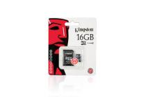 Kingston 16GB MicroSDHC Flash Memory Card Cls 4 (SDC4/16GB)