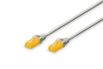 0.5 m CAT 6A U-UTP patch cord, 100% Copper, LSZH AWG 26/7, color grey