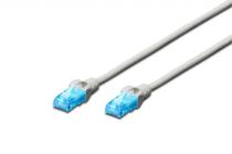 0.5m CAT 5e U-UTP patch cord 100% Copper AWG 26/7 Grey