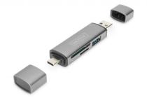 DIGITUS Dual Card Reader Hub USB-C / USB 3.0, OTG