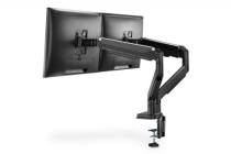 Gas Spring Dual Monitor Mount with Clamp 15-32″