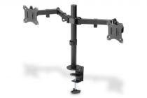 Dual Monitor Clamp Mount 15-32″, 2x 8 kg (max.), black