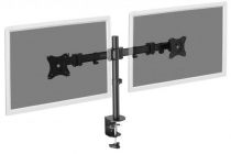 DIGITUS Universal Dual Monitor Stand with clamp mount 15-27″, black max. load 2x8Kg,VESA max100x100